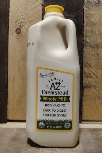 Family Farmstead A2 Cream-Top Certified Grass-fed Organic Whole Milk Half Gallon (PLASTIC)