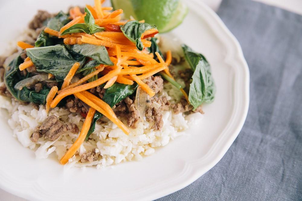 Thai Beef with Basil (Paleo, Gluten Free, Dairy Free)