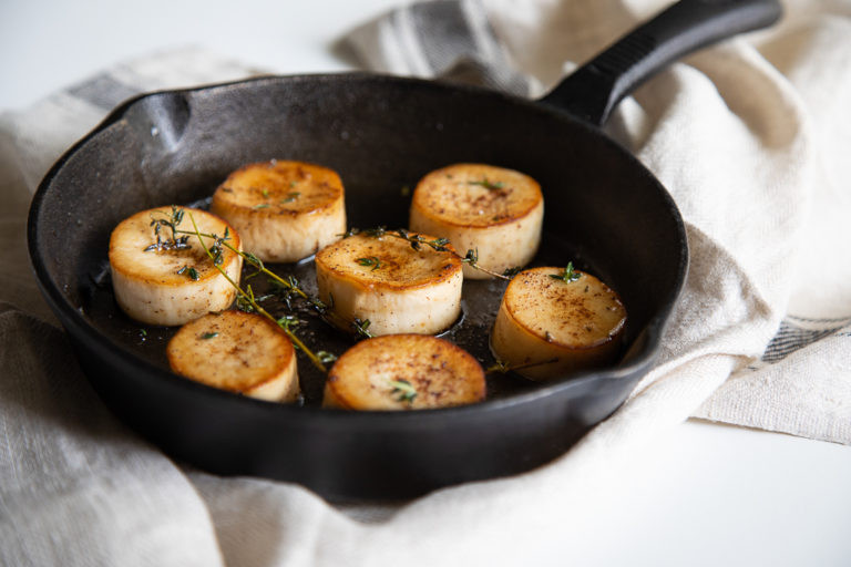 King Oyster Mushroom Scallops with Brown Butter and Thyme