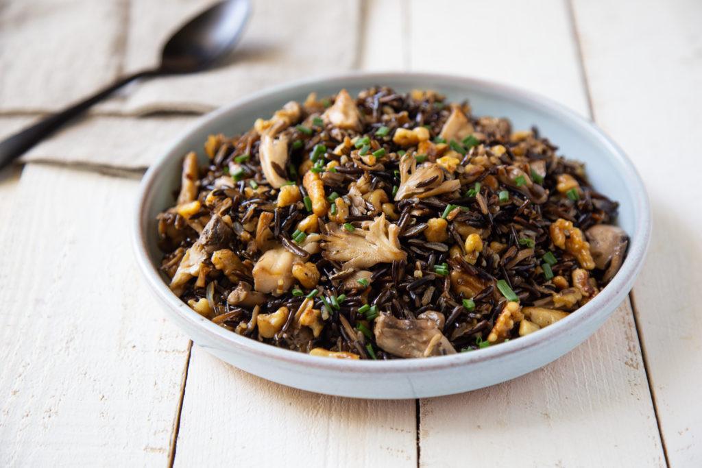 Maitake Wild Rice Salad