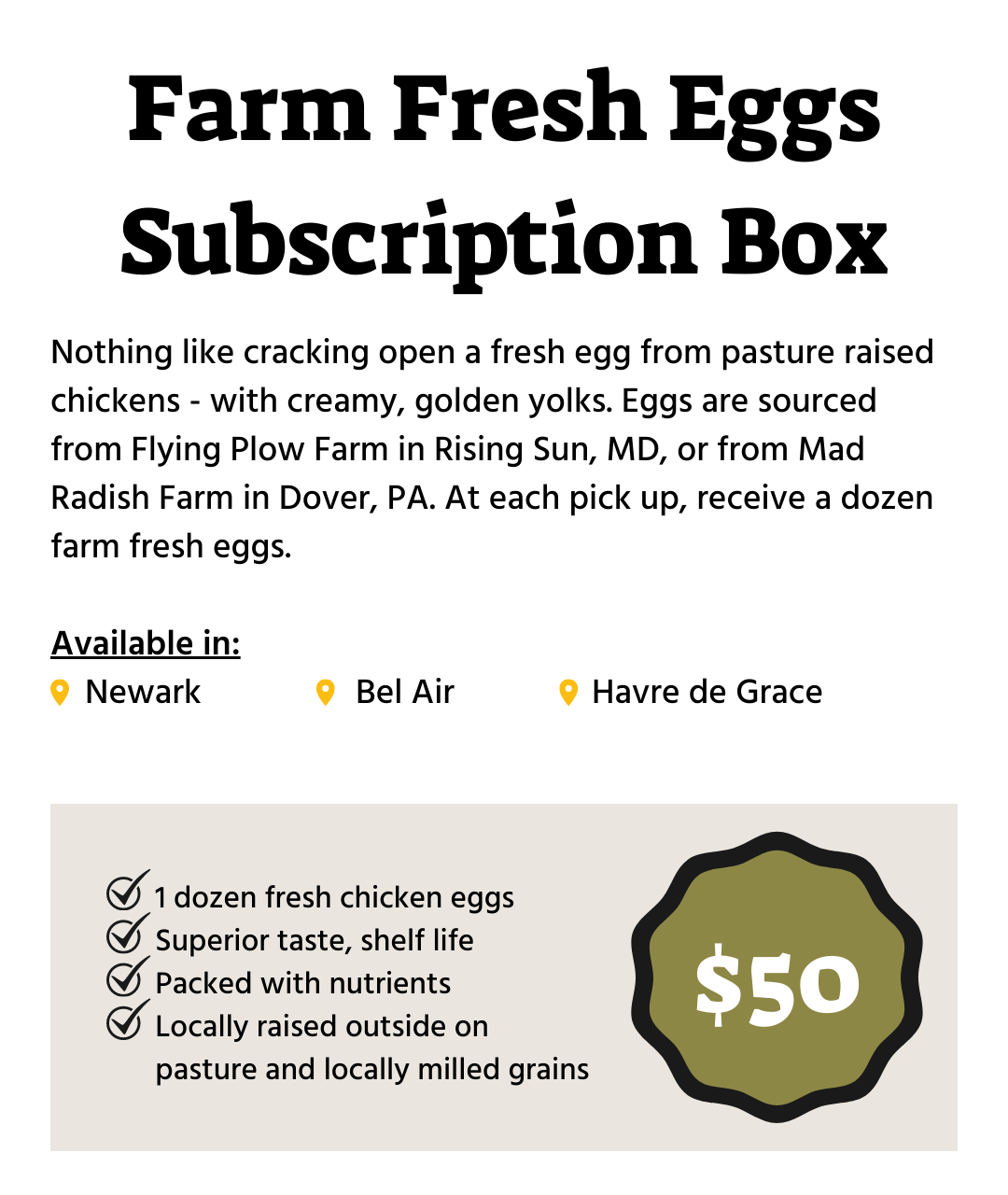 Winter Egg Subscription