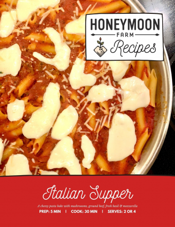 Recipe Card For: Italian Supper
