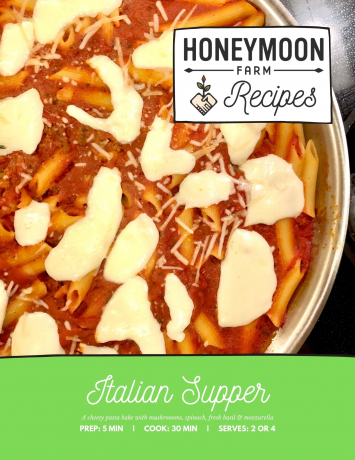 Recipe Card For: Italian Supper (Vegetarian)