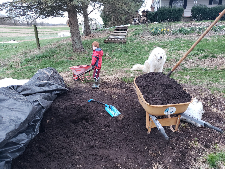 owen hauling compost