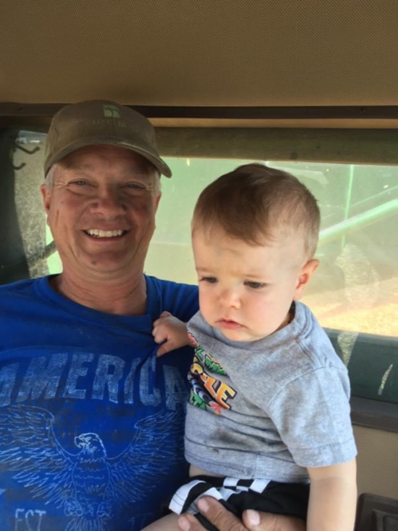 Ray and Owen in the combine