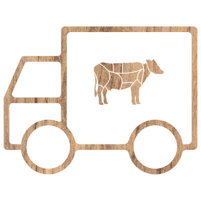 meat delivery icon