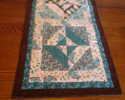Quilted Table Runner - Dark Turquoise