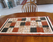 Quilted Table Runner - Brown