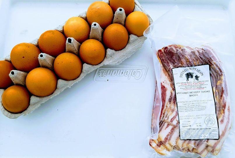 Pasture-raised pork and eggs