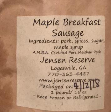 Maple Breakfast Sausage - HOT