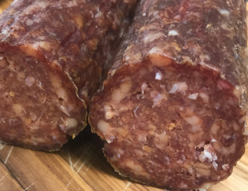 """Dry Aged Pepperoni - All Beef - 1"""" round log"""