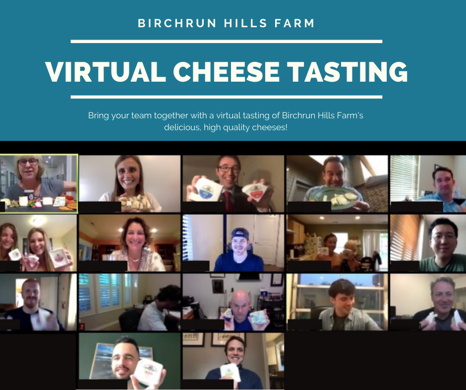 Virtual Cheese Tasting- 10/25 at 6 pm EST