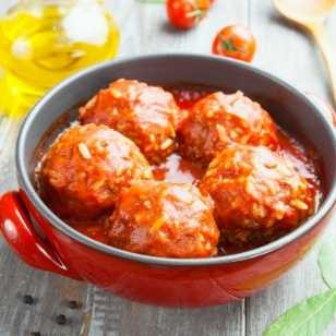 Porcupine Sweet and Sour Meatballs
