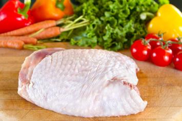 Turkey Skin-On Breast