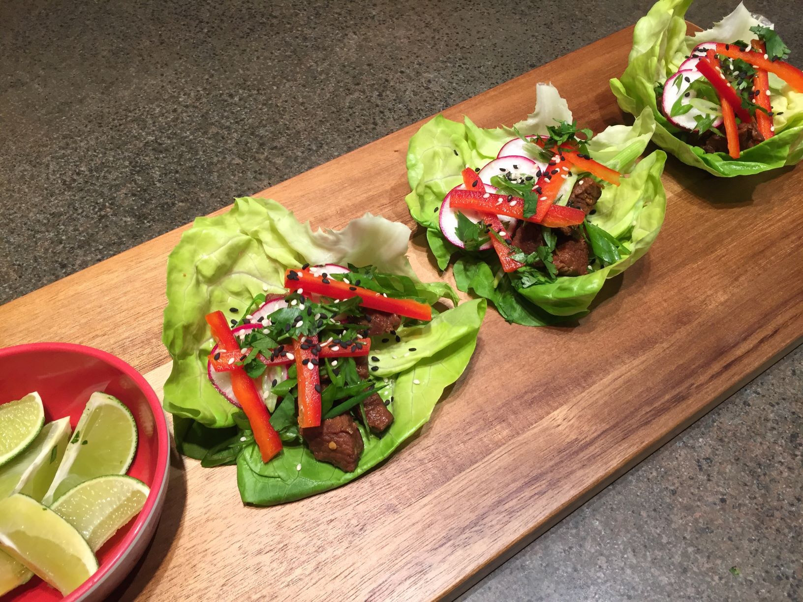 STEW MEAT ASIAN LETTUCE WRAPS