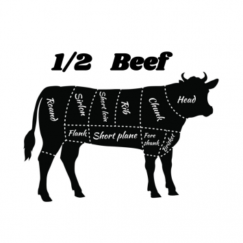 October 6th Butcher Date - 1/2 Beef Deposit - Grass-fed Only