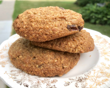 Sourdough Oatmeal Raisin Cookies