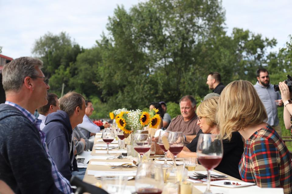 A Farm to Table Dinner at Wild Brute Winery in Arkport featuring our farm products.
