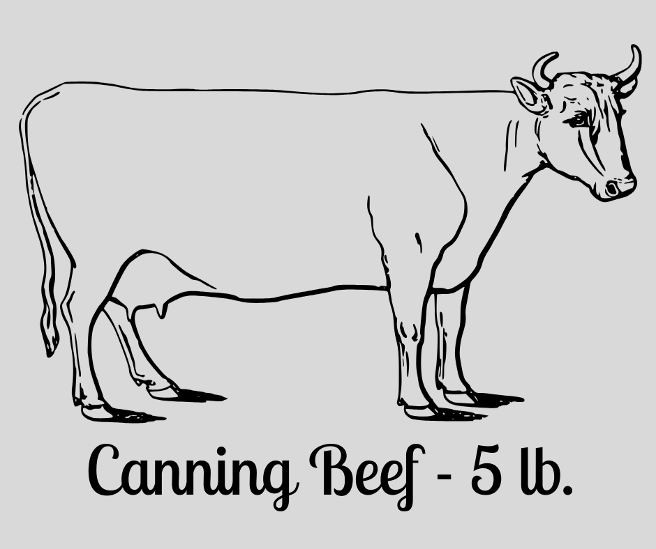 Canning Beef - 5 lb.