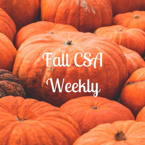 Fall CSA - Weekly
