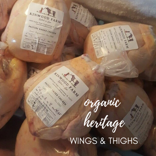 Organic, Pastured Chicken Wings & Thighs