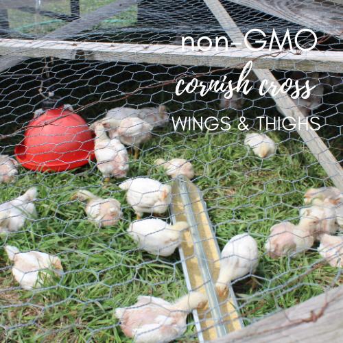 Non-GMO, Cornish Cross Chicken Wings & Thighs
