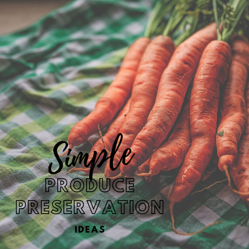 Simple Produce Preservation Ideas