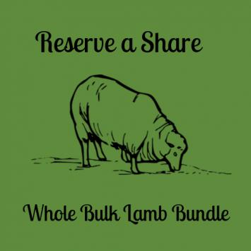 Reserve Your Share - Whole Bulk Lamb Bundle