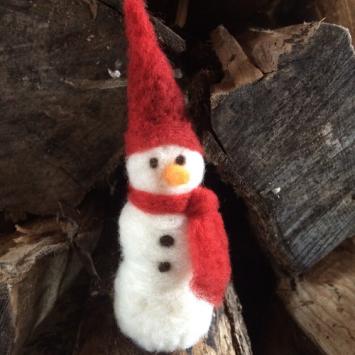 Wool Felted Snowman