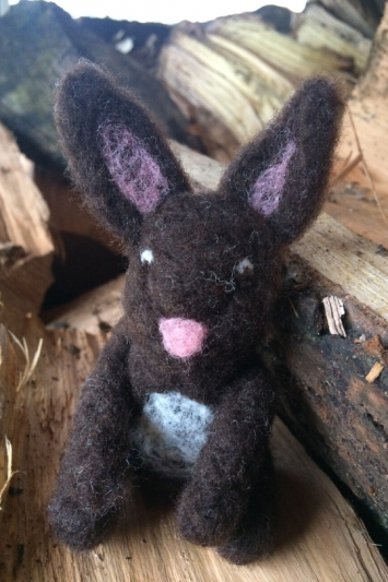 Wool Felted Bunny - Clover