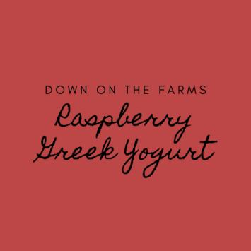 Down on the Farms Raspberry Greek Yogurt