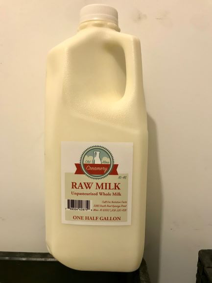 Milk, Raw, 1/2 Gal