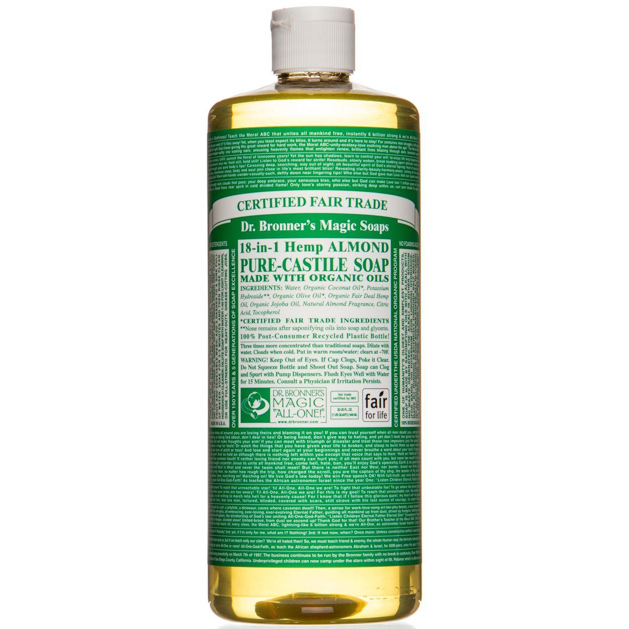 Castile Soap, Hemp Almond