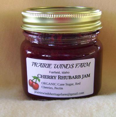 Jam, Sweet Cherry Rhubarb