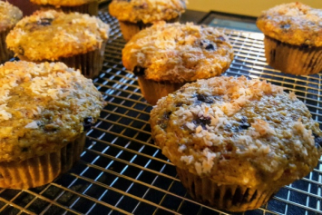Turmeric Blueberry Muffins