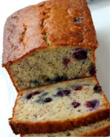 Banana Huckleberry Bread