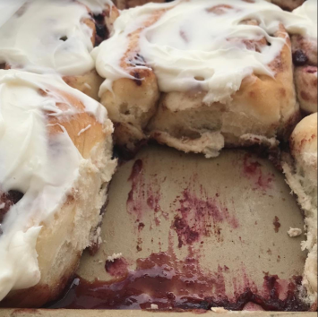 Huckleberry/Berry Cinnamon Roll