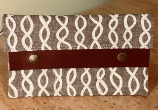 Brown & White Infinity Wallet