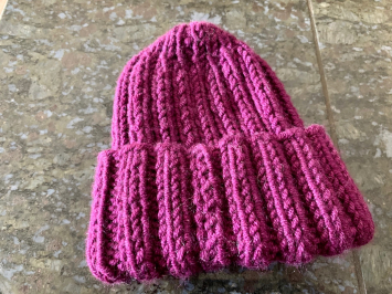 Hand Knit Watch Cap, Violet