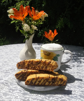 Choc.Chip Almond Biscotti Loaf