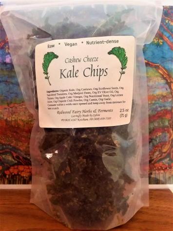 Cashew Cheeze Kale Chips