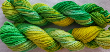 Hand Dyed Yarn - Lot 21-3 (yellows-greens)