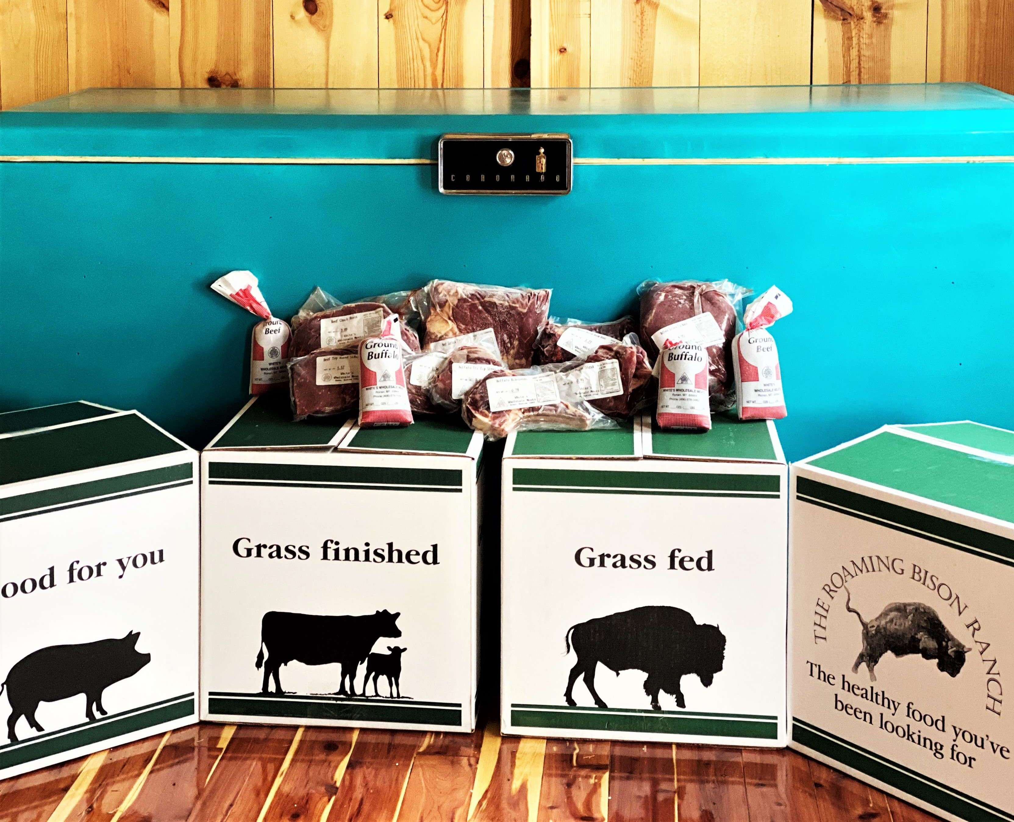 Montana raised, grass fed and grass finished bison and beef bundles