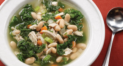 Large Chicken White Bean and Kale Soup