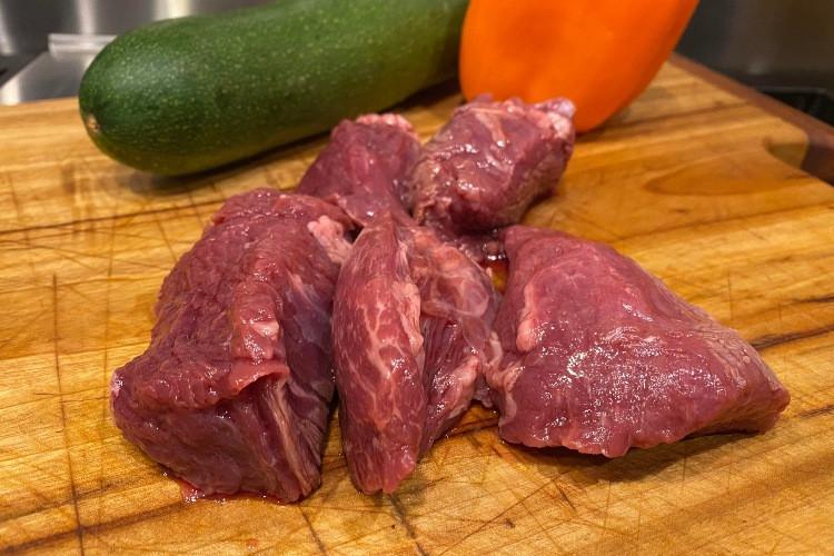 Teriyaki Marinated Beef Tips