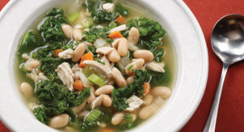 Small Chicken White Bean and Kale Soup
