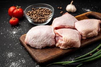 10 LB Bone-In Skin-On Chicken Thighs