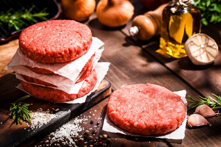 Beef 4 x 6 oz. patties