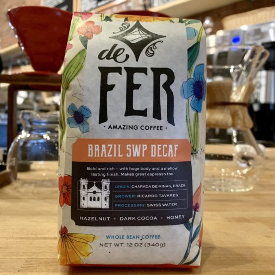 Brazil SWP Decaf Whole Bean Coffee (de Fer)