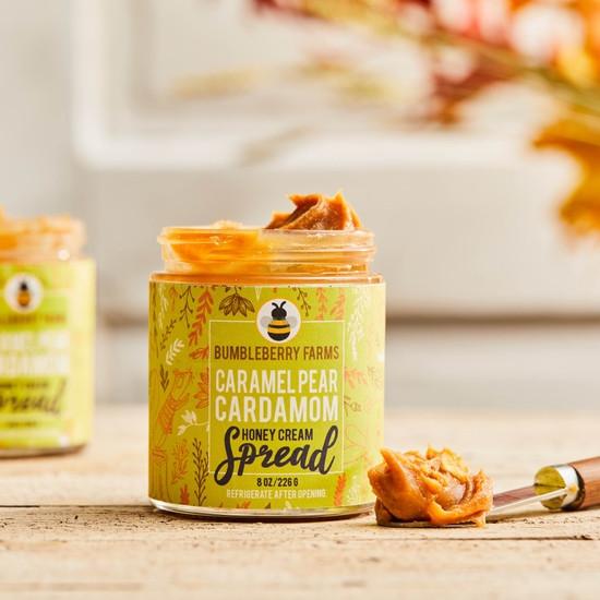 Caramel Pear Cardamom Honey Cream Spread